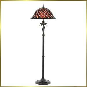 Tiffany Floor Lamp, QZTFIU9360VA, 2 lights, Antique Bronze, 20 wide X