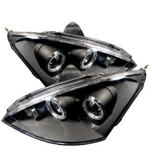 00 03 Ford Focus Halo Projector Head Lights   Black Automotive
