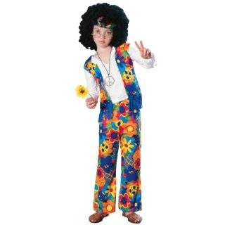 Girls Flower Power Hippie Costume   Child Large Toys & Games