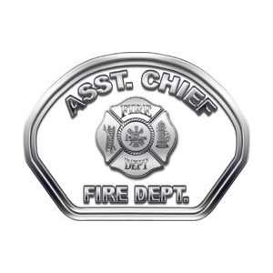 Helmet Front Face Assistant Chief White Decal Reflective Automotive