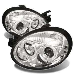 2005 Dodge Neon Halo LED Projector Headlights   Chrome Automotive