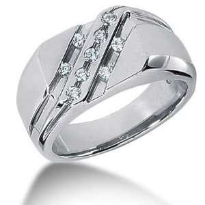 Men s Diamond Ring 9 Round Stone 0.03 ct Total 0.27 ctw 146 MDR1276