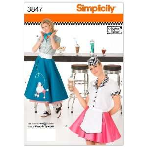 Simplicity Sewing Pattern 3847 Misses Costumes, HH (6 8 10