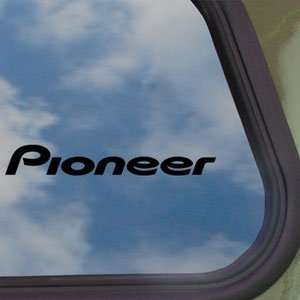 Pioneer Audio Black Decal Car Truck Bumper Window Sticker