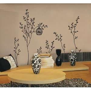 (Black) removable Vinyl Mural Art Wall Sticker Decal