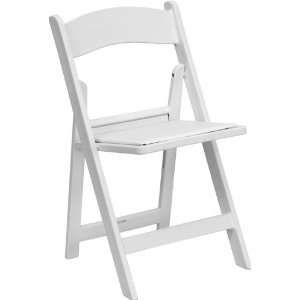 Flash Furniture White Heavy Duty Resin Folding Chair