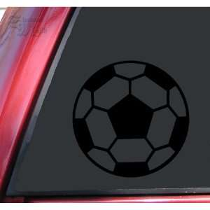 Soccer Ball Vinyl Decal Sticker   Black Automotive