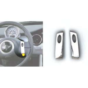 New Mini Cooper Steering Wheel Button Covers   Chrome, 2pc Set 02 3
