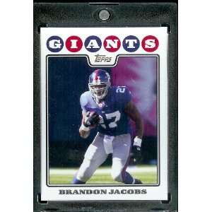 2008 Topps # 83 Brandon Jacobs   New York Giants   NFL Trading Cards