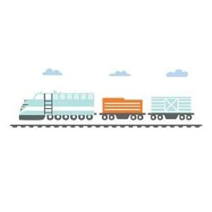 Modern Train Engine Wall Decal