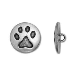 Antique Pewter Cat Paw Button Arts, Crafts & Sewing