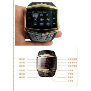 Quadband watch cell phone with polymer battery