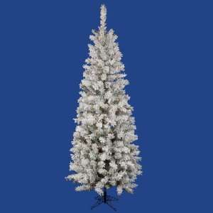 40 Flocked Pacific Pencil Christmas Tree w/ 606T 385 LED