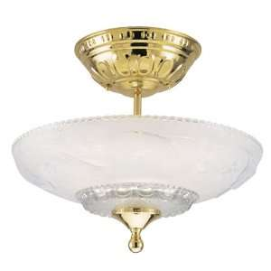 Westinghouse 66172 3 Light Semi Flush Mount Ceiling Fixture Polished