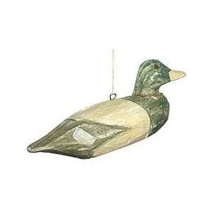 Wooden Duck Christmas Ornament
