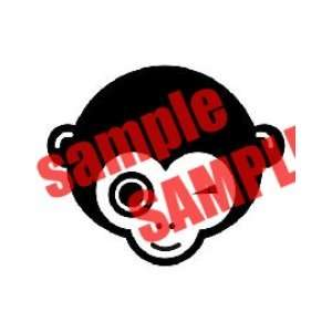 MONKEY EYE WINK WHITE VINYL DECAL STICKER