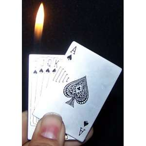Ace of Spades Royal Flush Card Lighter Casino Las Vagas