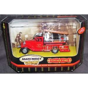 MATCHBOX COLLECTIBLES, VINTAGE FIRE ENGINE, 1932 FORD AA  OPENED CAB