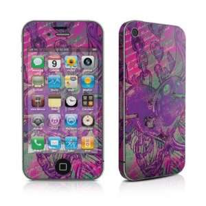 Tortured Heart Design Protective Skin Decal Sticker for Apple iPhone 4