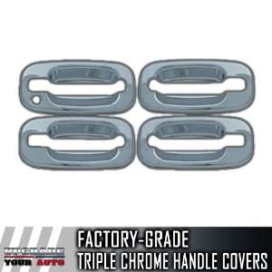 Tahoe 4dr Chrome Door Handle Covers (Bases Only, No Passenger Keyhole