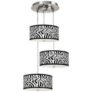 Safari Zebra 3 in 1 Drum Shade Giclee Pendant