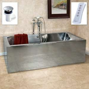 72 Ultro Stainless Steel Air Bath Tub   (14 gauge / With