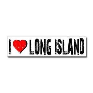 I Love Long Island   Window Bumper Sticker Automotive