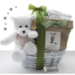 Green Eco Friendly Plant a Tree New Baby Gift Basket   Great Shower
