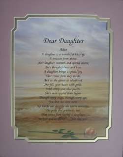 DAUGHTER PERSONALIZED POEM BIRTHDAY OR CHRISTMAS GIFT