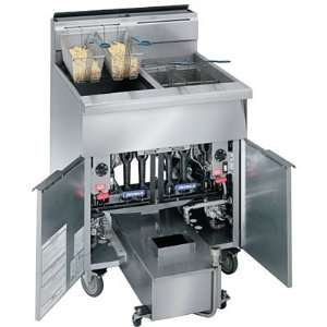 Imperial Commercial Gas Deep Fryer and Filter System   Two (2) Fryers