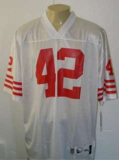 RONNIE LOTT #42 SAN FRANCISCO 49ERS VINTAGE REEBOK THROWBACK JERSEY