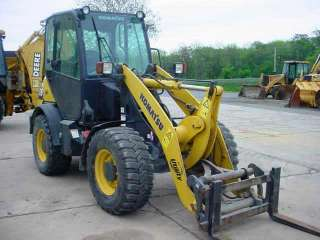 Komatsu WA65 5 Wheel Loader with Cab with A/C GP Bucket w/BOCE & Forks