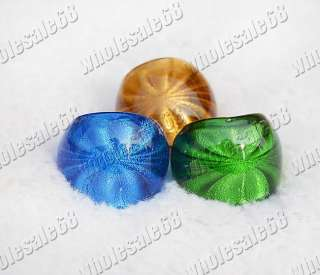 lots mixed womens flower shadow charm murano glass ring 12pcs
