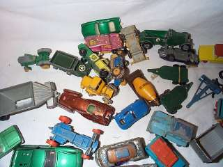 Vintage Lesney Matchbox Die Cast Cars Job Lot 45 Truck Bus Van Crane