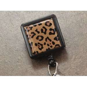 Leopard Safari Collection Retractable Reel ID Badge Holder