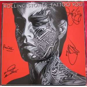 Rolling Stones Autographed / Signed Album Cover Tattoo You   Sports